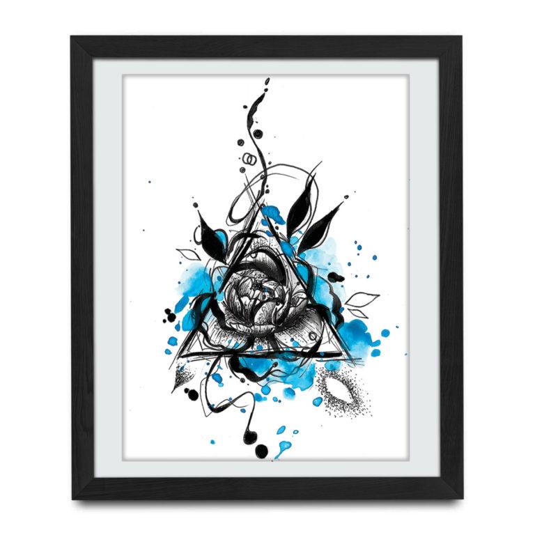 tatuaż róży łódź
