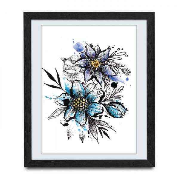 tatuaz kwiatów