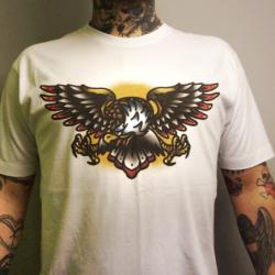 Koszulka tatuaż orła – Kula Tattoo (biała)